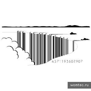 Примеры штрих кода в дизайне