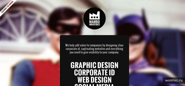Размытое фоновое изображение в дизайне