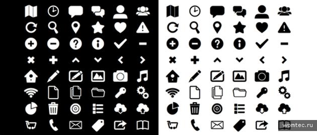 Бесплатные иконки-символы и значки