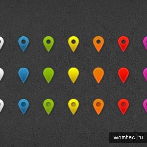 Бесплатные psd-элементы карт и навигации