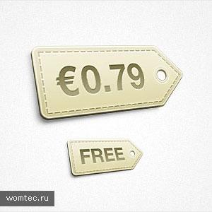 Бесплатные psd-исходники тегов и меток для сайта