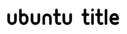 Ubuntu Title