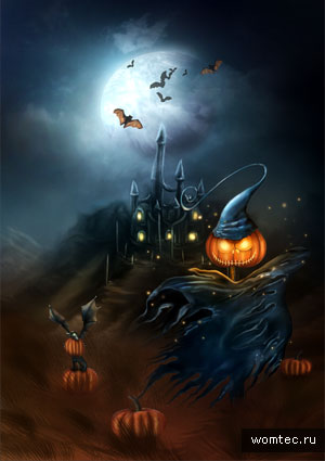 Хэллоуин 2011 в арт оформлении