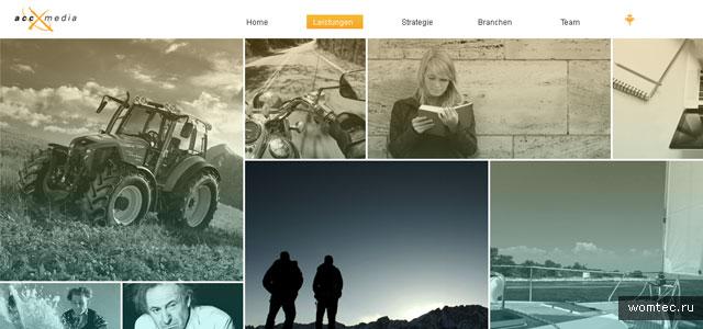Горизонтальный дизайн сайта