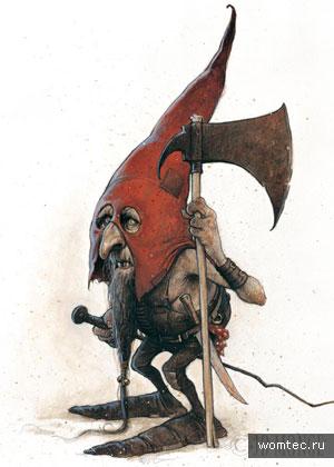 Иллюстрации сказочных гномов и эльфов
