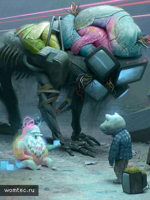 Цветные иллюстрации к мультфильмам