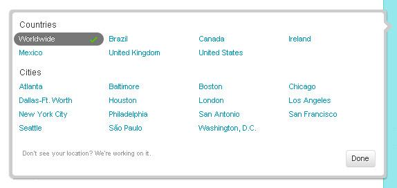 Список стран и городов