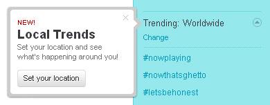 Новая функция в твиттере — тренды