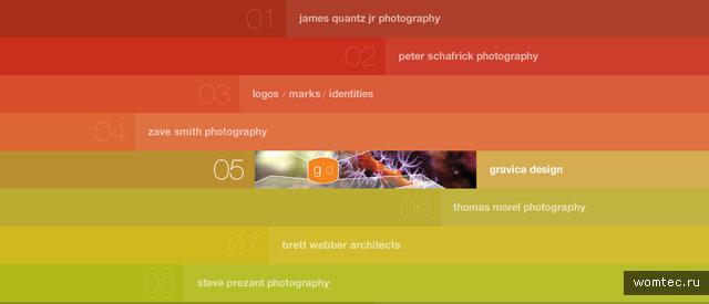 Необычная навигация в дизайне сайта