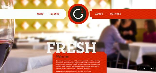 Дизайн сайтов кафе и ресторанов