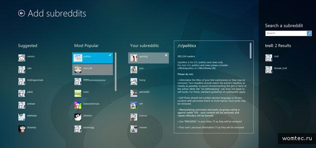 Стиль Metro или дизайн от Windows 8