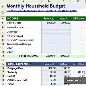 Шаблоны для Microsoft Excel
